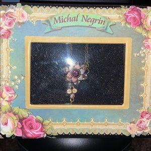 NIB Michal Negrin Necklace w/ Swarovski Crystals